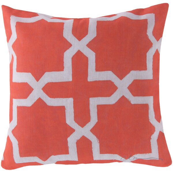 DwellStudio Madurai Persimmon Outdoor Pillow