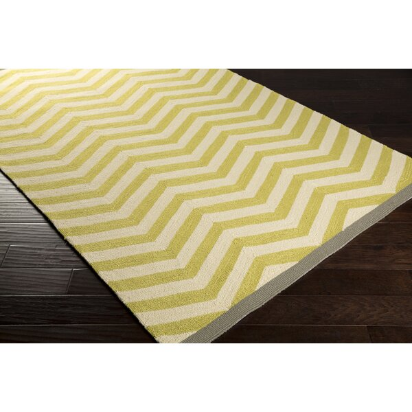 DwellStudio Chevron Chatreuse Outdoor Rug