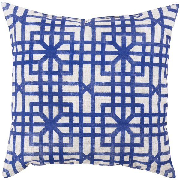 DwellStudio Lattice Marine Outdoor Pillow