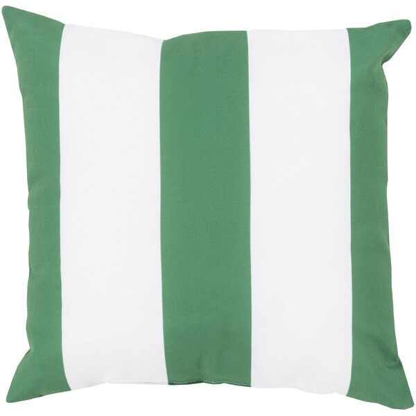 DwellStudio Awning Stripe Kelly Green Outdoor Pillow