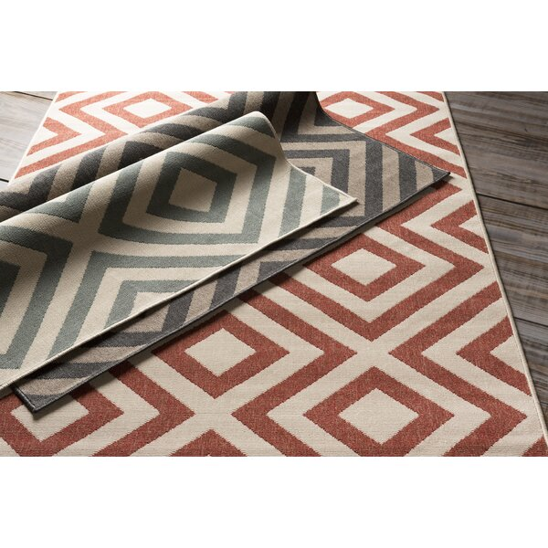 DwellStudio Evans Trellis Clay Outdoor Rug