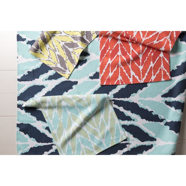 DwellStudio Arrow Aqua Outdoor Rug