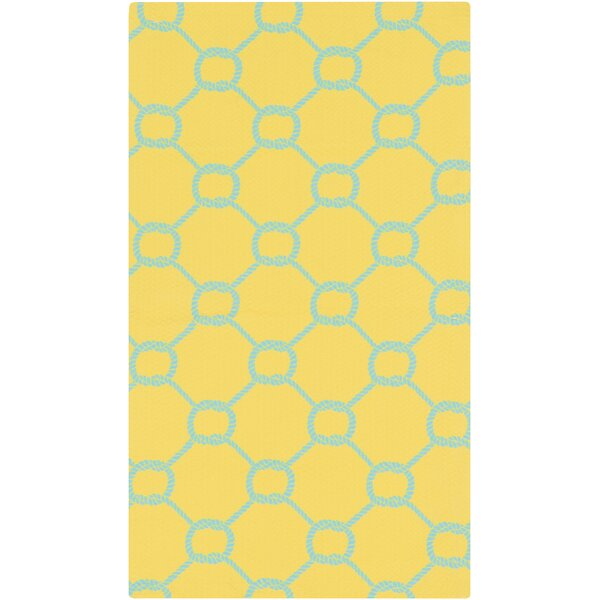 DwellStudio Rope Trellis Lemon Outdoor Rug