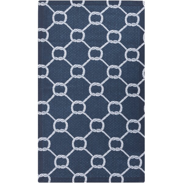 DwellStudio Rope Trellis Navy Outdoor Rug