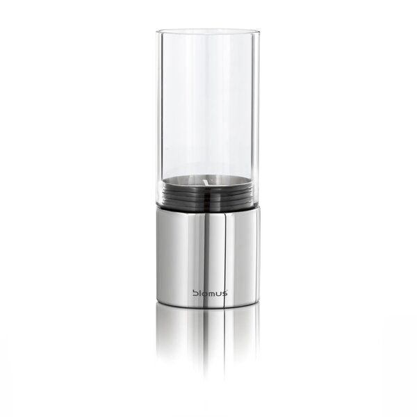 DwellStudio Faro Wide Steel and Glass Hurricane