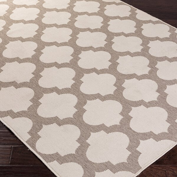DwellStudio Modern Trellis Smoke Outdoor Rug