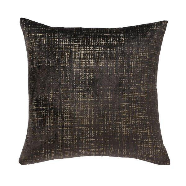 DwellStudio Etched Velvet Espresso Pillow