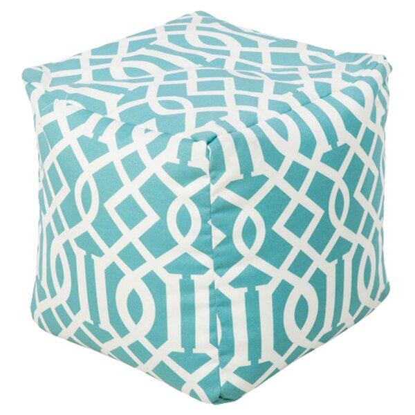 DwellStudio Trellis Aqua Outdoor Pouf