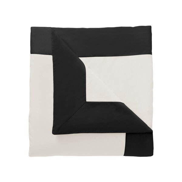 DwellStudio Modern Border Ink Duvet Cover