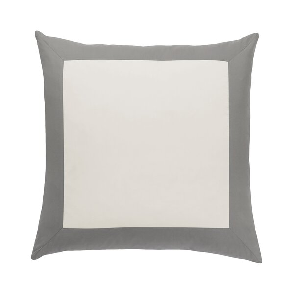 DwellStudio Modern Border Smoke Euro Sham (Set of 2)