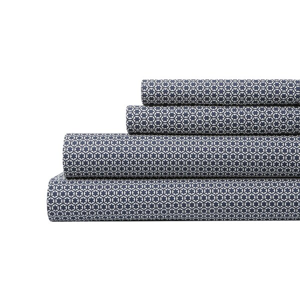 DwellStudio Block Print Floral Sheet Set