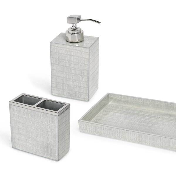DwellStudio Thompson Bathroom Accessories Collection in Silver