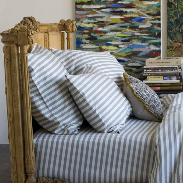 DwellStudio Draper Stripe Ash Euro Sham (Set of 2)