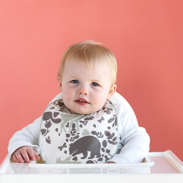 DwellStudio Woodland Tumble Bib & Burp Set