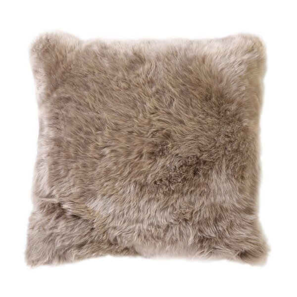DwellStudio Sheepskin Long Smooth Pillow