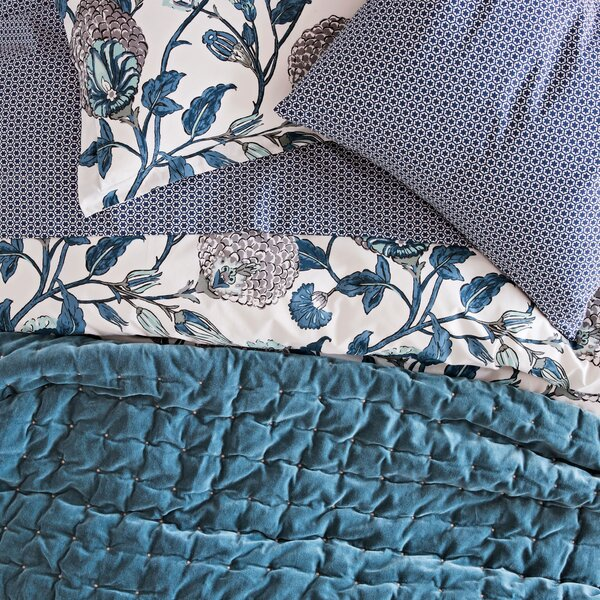 DwellStudio Block Print Floral Sheet Set
