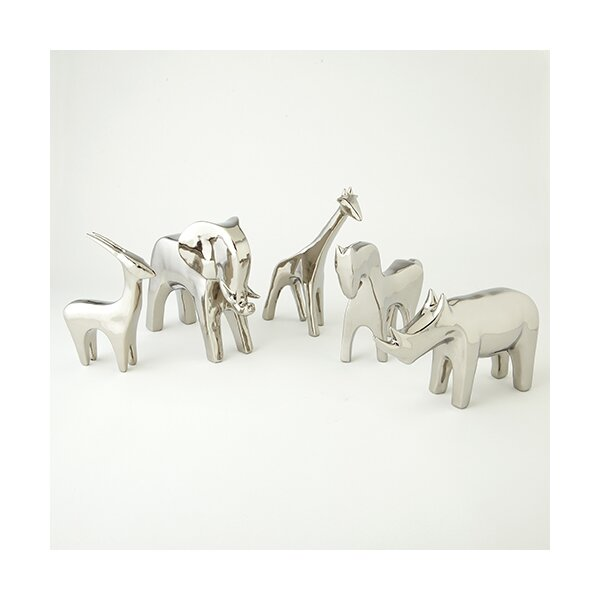 DwellStudio Rhino Silver Objet