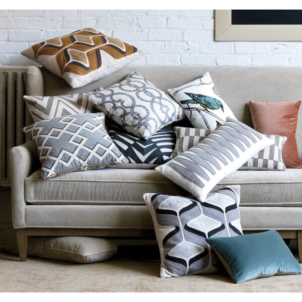 DwellStudio Shadow Trellis Toffee Pillow