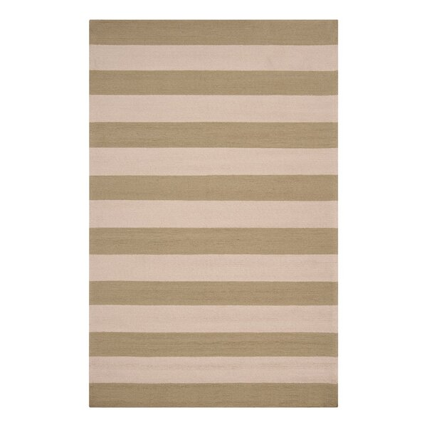 DwellStudio Draper Stripe Celery Outdoor Rug