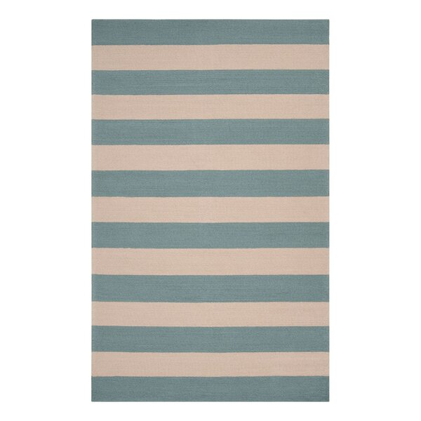 DwellStudio Draper Stripe Azure Outdoor Rug