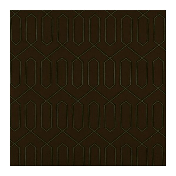 DwellStudio Dotted Trellis Fabric - Major Brown