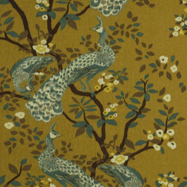 DwellStudio Vintage Plumes Fabric - Camel