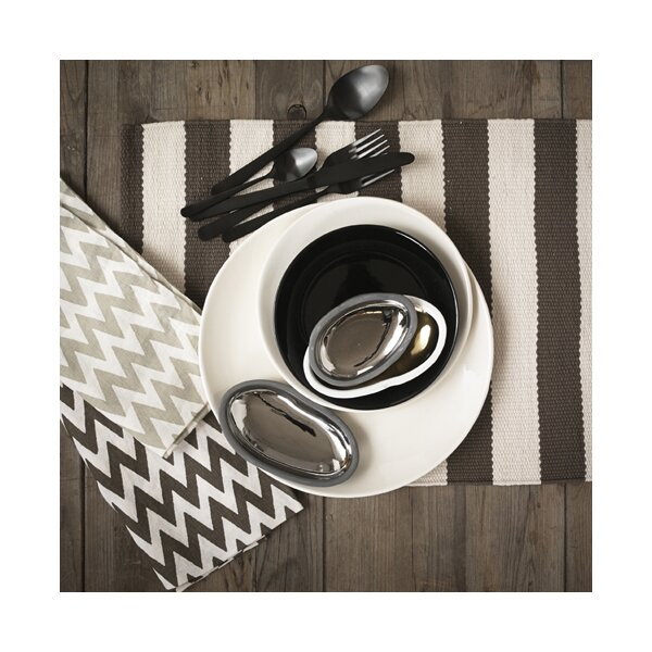 DwellStudio Chevron Platinum Napkin