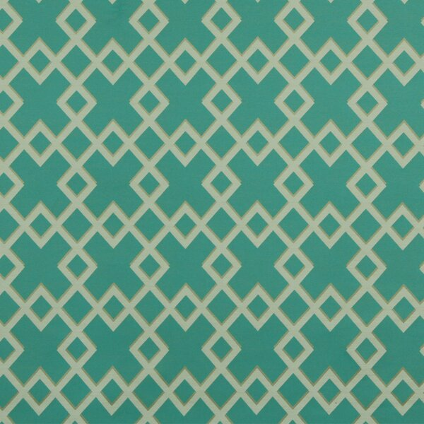 DwellStudio Cross Lane Fabric - Turquoise