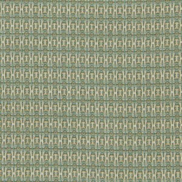 DwellStudio Locking Dots Fabric - Turquoise