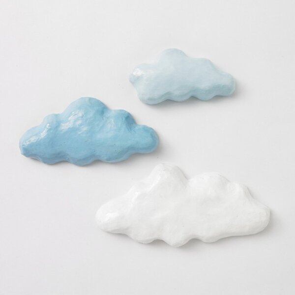 DwellStudio Clouds Sky Papier-Mache Wall Décor Set (Set of 3)