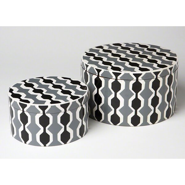 DwellStudio Chelsea Stripe Round Box