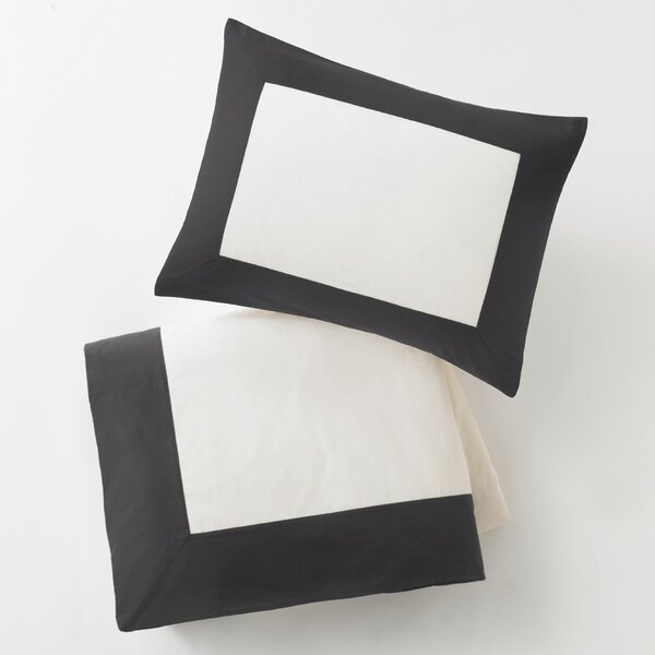 DwellStudio Modern Border Ink Duvet Set