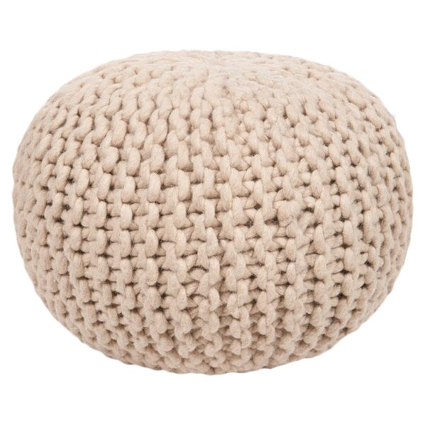 DwellStudio Braided Wool Natural Pouf