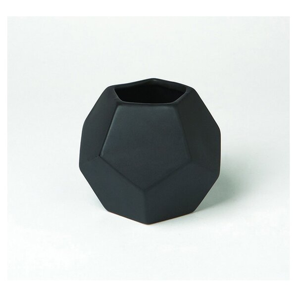 DwellStudio Faceted Black Vase
