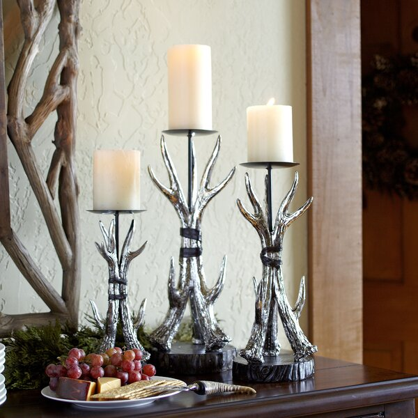 Birch Lane Antler Candleholders Birch Lane