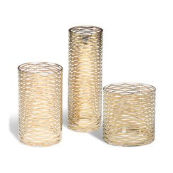 <strong>DwellStudio</strong> Gold Ribbons Glass Vase