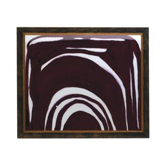 <strong>Fuchsia Curve Artwork Framed Print</strong>