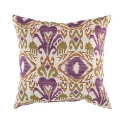 <strong></strong> Ikat Grape Outdoor Pillow