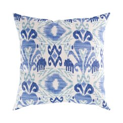 <strong></strong> Ikat Blue Outdoor Pillow