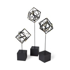 <strong>DwellStudio</strong> Tilted Cube Sculpture