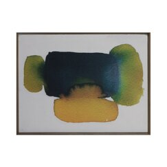 <strong>DwellStudio</strong> Citrine Green Watercolor Artwork