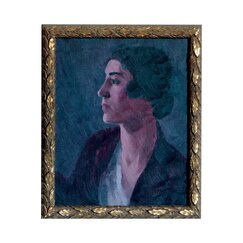 <strong>DwellStudio</strong> Vintage Lady Brunette Artwork
