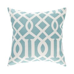 <strong></strong> Trellis Aqua Outdoor Pillow Cover