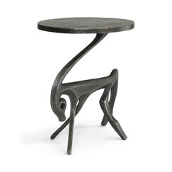 <strong>Gazelle Black Iron Side Table</strong>