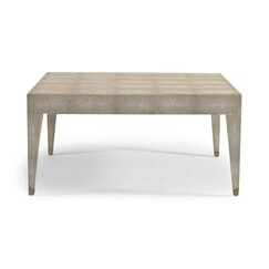 <strong>Klein Ivory Shagreen Coffee Table</strong>