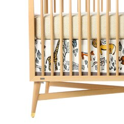<strong></strong> Safari Canvas Crib Skirt