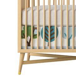 <strong></strong> Owls Canvas Crib Skirt