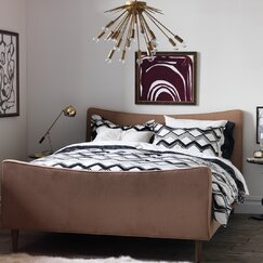 <strong></strong> Painted Chevron Duvet Set