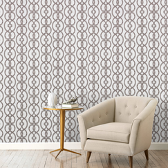 <strong>DwellStudio</strong> Snake Chain Dove Wallpaper