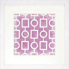 <strong>DwellStudio</strong> Graphic Pattern Berry Artwork
